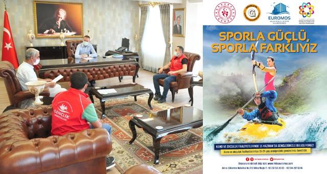 """Milaslı Gençler için """"Sporla Güçlü, Sporla Farklıyız"""" projesi"""