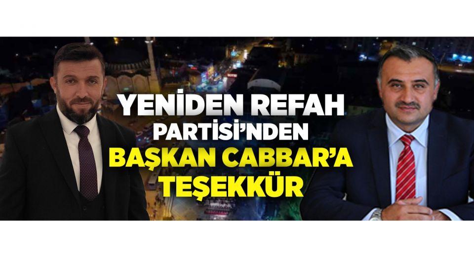 Kayseri Develi'de Yeniden Refah'tan Başkan Cabbar'a Esnaf Teşekkürü