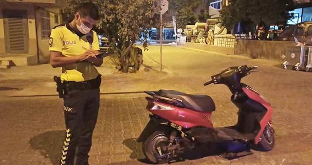 Gece motorsiklet kazası, 1 yaralı..