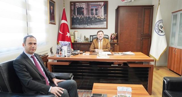 Rektör Yardımcısı Yağcı'dan Başkan Tokat'a ziyaret
