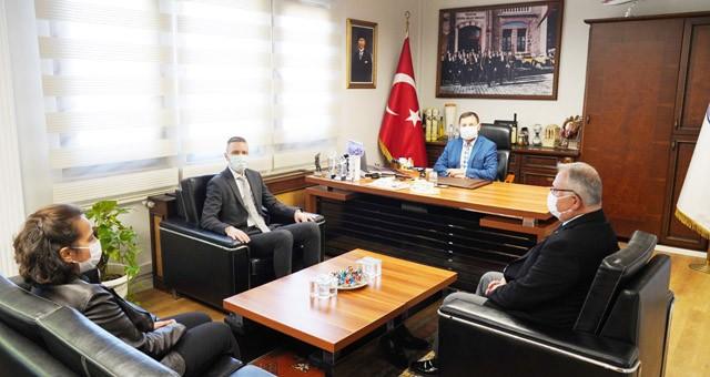 Kaymakam Böke'den Başkan Tokat'a iadei ziyaret