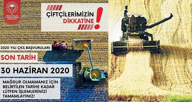 Çiftçi kayıt sistemi son başvuru tarihi 30 Haziran..