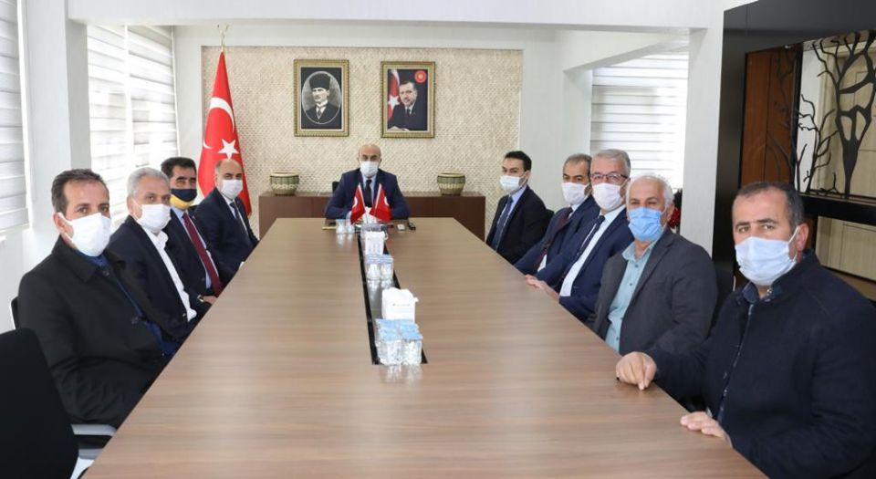 Mardin'de Ömerli Heyetinden Vali Demirtaşa Teşekkür Ziyareti