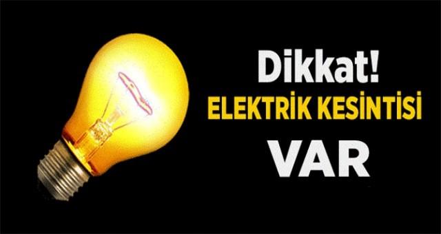 Dikkat! Elektrik kesintisi