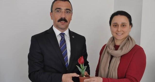 Kaymakam Arslan, kadın personelin 'kadınlar günü'nü kutladı