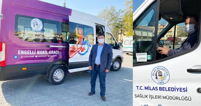 Milas Belediyesi engelli nakil aracı aldı..