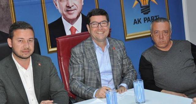 AKP'İLÇE BAŞKANI ACAR VE BAŞKAN ADAYI SAYLAK'TAN İLK DEĞERLENDİRME…