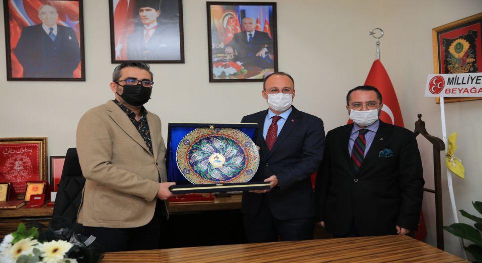 Pamukkale Belediye Başkanı'ndan Mhp'ye Ziyaret