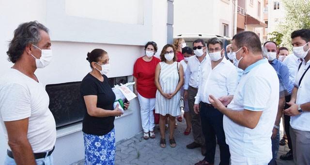Başkan Tokat'tan saldırıya uğrayan kadın esnafa ziyaret: