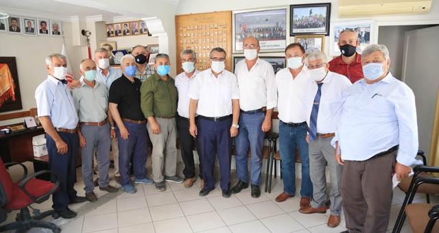 Başkan Gezgin'den Milas Muhtarlar Derneği'ne hayırlı olsun ziyareti