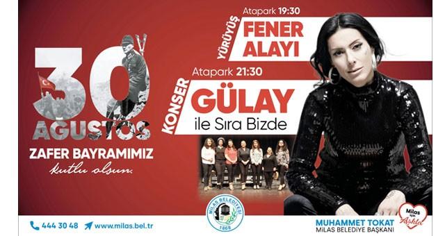 30 Ağustos Zafer Bayramı'nda Milas'ta Gülay rüzgarı esecek