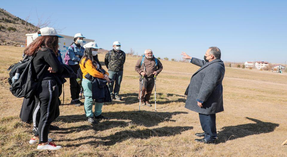 Kayseri Talas'ta Genç Dağcılar Ali Dağı Yürüyüşünde