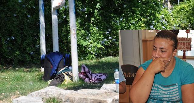 Parkta yatan kadına devlet eli uzandı…