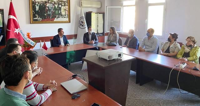 TMMOB İlçe Koordinasyon Kurulu'ndan Başkan Yardımcısı Halil Mutlu'ya ziyaret