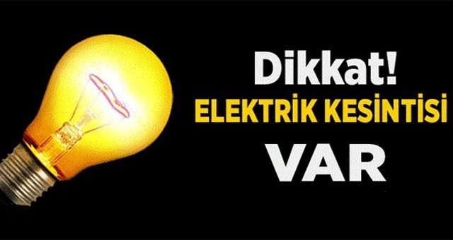 Dikkat! Elektrik kesintisi..