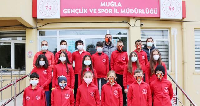 Muğlalı Atletler, bölge yarışları için Bandırma'ya uğurlandı