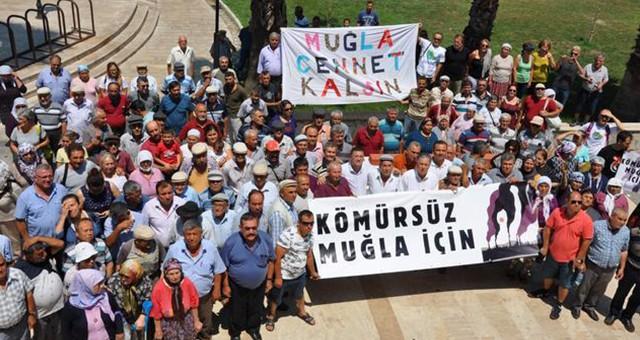 """Köylerinin boşaltılmasını istemeyen köylüler Milas'ta toplandı  """"Kömürsüz Muğla İçin"""" Mücadele Yükseliyor.."""