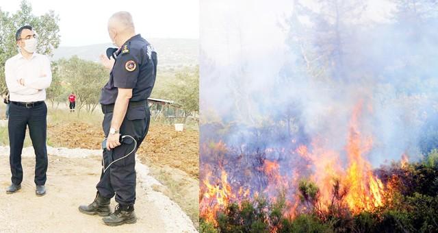 Sezonun ilk büyük orman yangını Kısırlar'da..