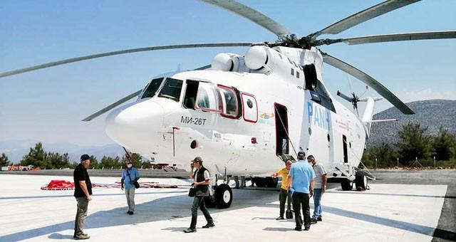Milas'taki yangın söndürme helikopterinin görevi sona erdi
