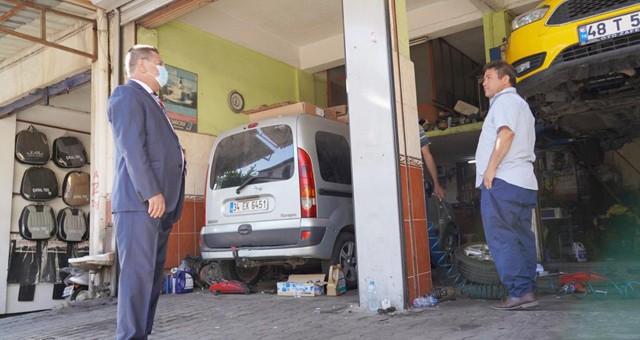Başkan Tokat'tan sanayi esnafına ziyaret