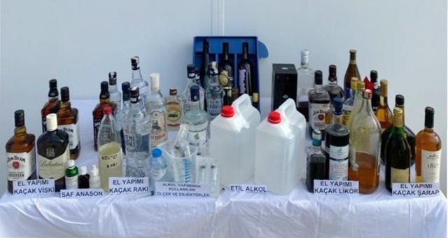 Muğla Jandarması'ndansahte içki operasyonları..