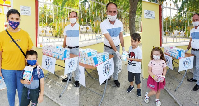 Milas Belediyesi kreş ve anaokullarında maske dağıtımı gerçekleştirdi