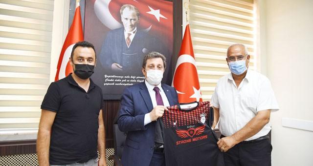 Ortaca Belediyespor Kulübü Başkanı İsmail Milat, Vali Orhan Tavlı'yı ziyaret etti