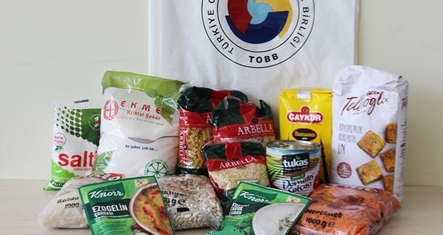 TOBB - MİTSO işbirliğinde 1012 aileye 100 bin liralık erzak yardımı yapıldı