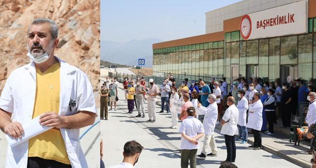 Doktorlar Milas Devlet Hastanesi'nde açıklama yaptı: