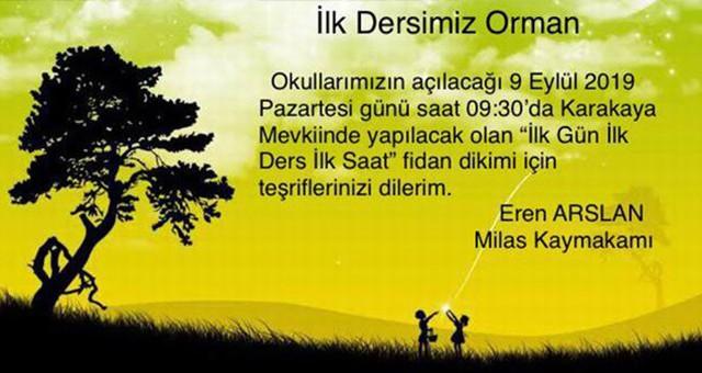 İLK DERSİMİZ ORMAN..