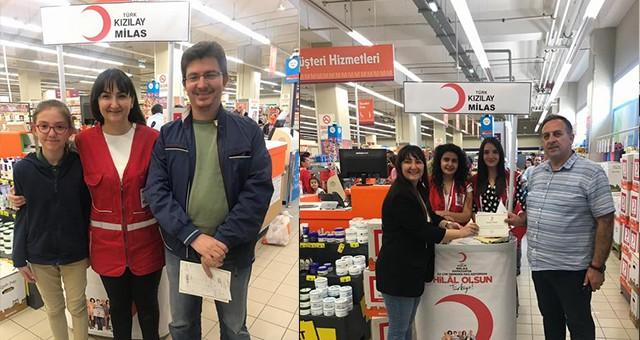 Milas TürkKızılayı ile iyilik yolculuğu devam ediyor