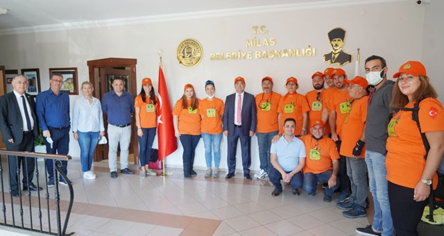 Maya Gönüllüleri'nden Başkan Tokat'a ziyaret