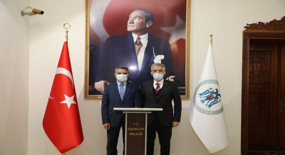 Tunceli Valisi Özkan'dan Erzincana Ziyaret