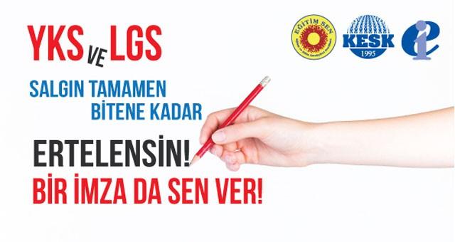Eğitim Sen'den imza kampanyası çağrısı