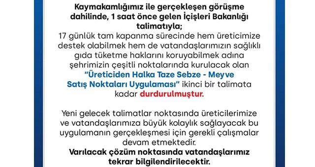 Milas Belediyesi'nden duyuru