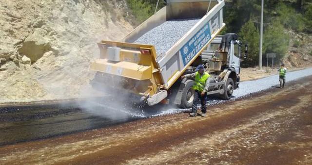 Milas Kalem Mahallesi'nde asfalt çalışmaları tamamlandı