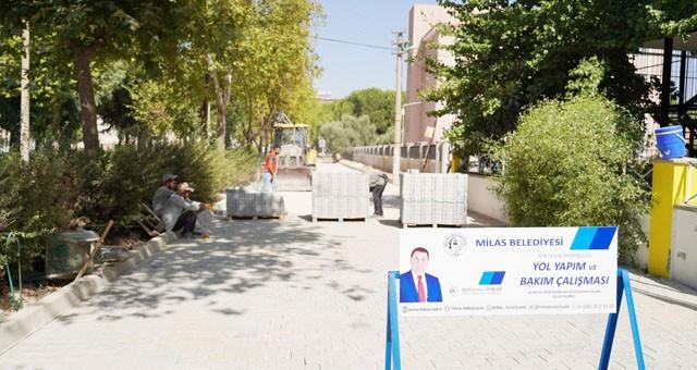 Şair Ulvi Akgün ve Kardelen Sokak'ta çalışmalar devam ediyor