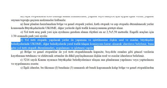 BÜYÜKŞEHİR'DEN 'YOLÜSTÜ OTOPARK' AÇIKLAMASI..
