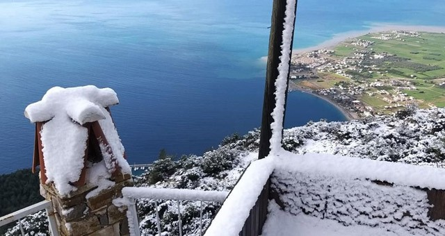 Milas'a da kar yağdı!..