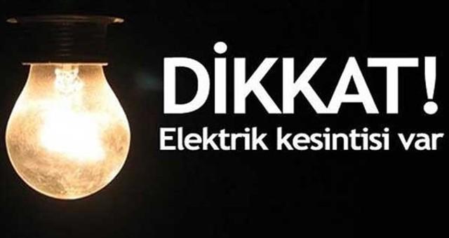 Dikkat! Perşembe günü elektrik kesintisi..