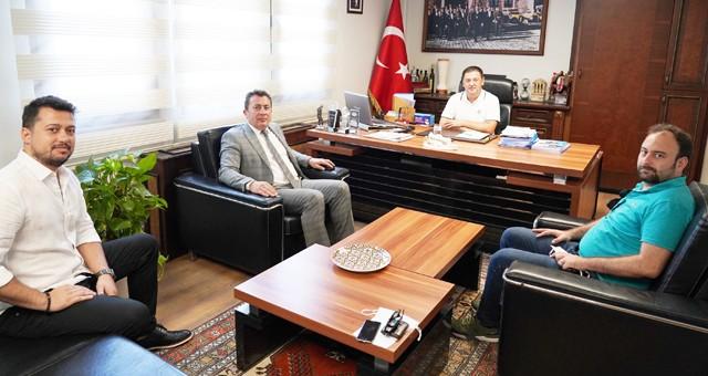 İlçe Seçim Kurulu Başkanı Kıdemli Hâkim Özgür Yalçın'dan Başkan Tokat'a veda ziyareti