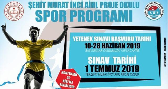 Spor Yetenek Sınavı 1 Temmuz'da