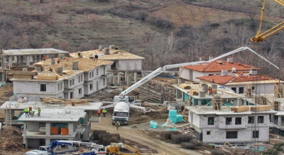 Malatya Doğanyol'da Deprem Konutları Yükseliyor