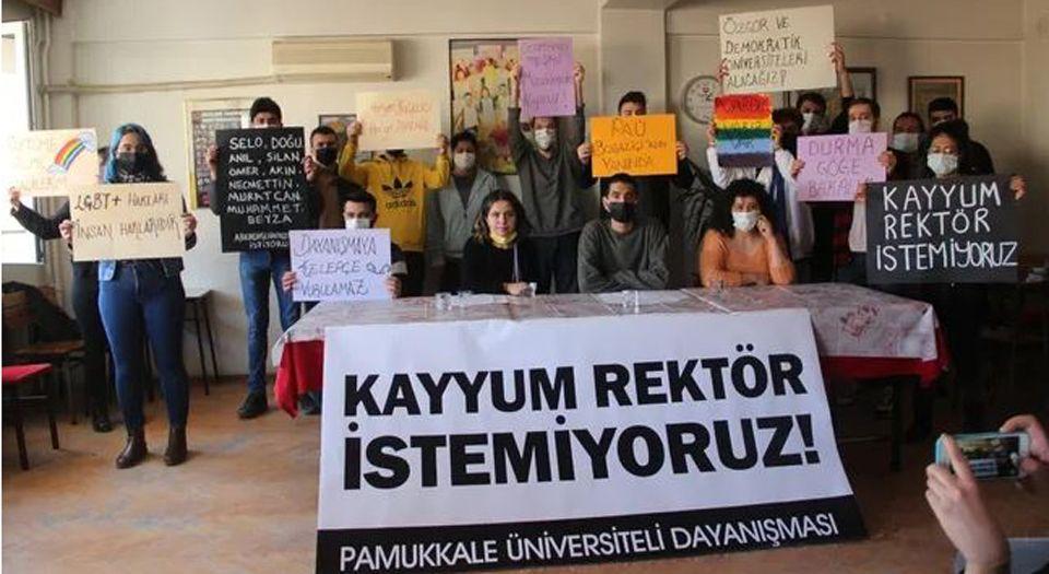 Pamukkale'den Boğaziçi Protestolarına Destek