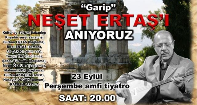 Neşet Ertaş'ı Anma Konseri Bugün..