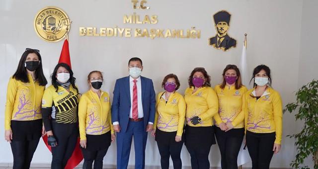 MOR PEDAL KADIN BİSİKLET DERNEĞİ'NDEN BAŞKAN TOKAT'A ZİYARET