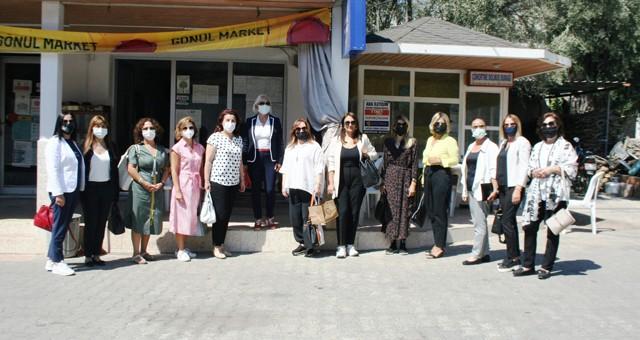 TOBB Kadın Girişimciler destek için Milas'ın yanan orman alanlarında: