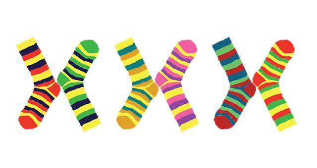 Renkli çoraplarla meydan okudular