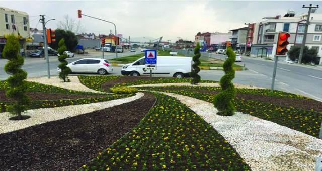 Milas Belediyesi tarafından başlatılan peyzaj çalışmaları devam ediyor