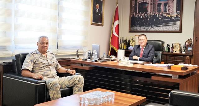 Garnizon Komutanı'ndan Başkan Tokat'a ziyaret